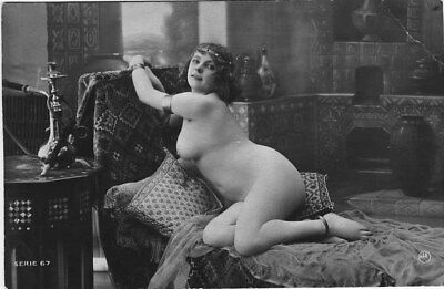 French NUDE real photo postcard circa 1920 Jean AGELOU cp1027