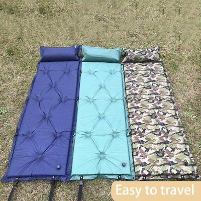 Seif-Inflatable Outdoor Camping Picnic Automatic Sleeping Mat With Pillow DST