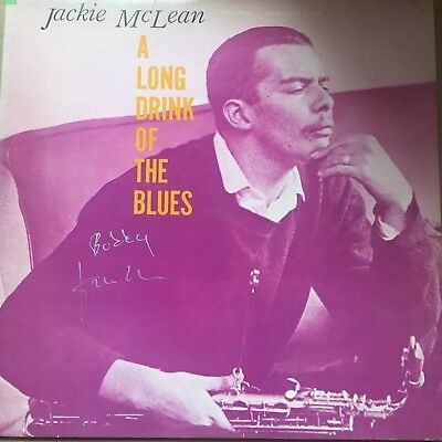 Jackie McLean A Long Drink Of The Blues Autograph Top early OJC RE