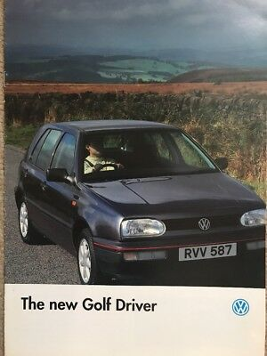 Car Brochure - 1994 Volkswagen Golf Driver - UK