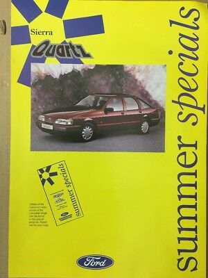 Car Brochure - 1991 Ford Sierra Quartz - UK