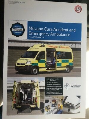 Car Brochure - 2006 Vauxhall Movano Ambulance - UK