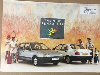 Car Brochure - 1990 Renault 19 Le Sport - UK