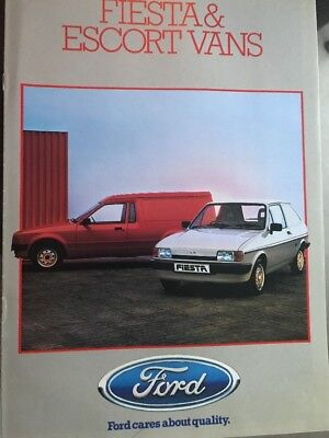 Car Brochure - 1985 Ford Fiesta & Escort Vans - UK