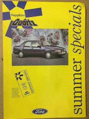 Car Brochure - 1991 Ford Sierra Sapphire Quartz - UK