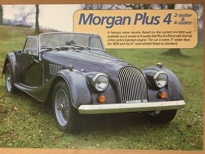 Car Brochure - 1985 Morgan Plus 4 - UK