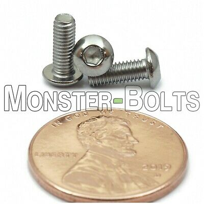 M3 - 0.50 x 8mm Stainless Steel Button Head Socket Hex Cap Screws, A2 ISO 7380