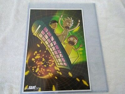 Bam Box Rick and Morty and Dr. Who 1st Art Print  92 of 100 Rare w/ Top LOADERS