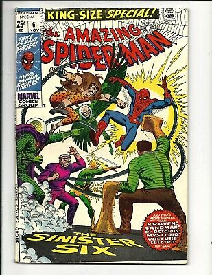 AMAZING SPIDER-MAN KING-SIZE ANNUAL # 6 (SINISTER SIX app. NOV 1969), FN+