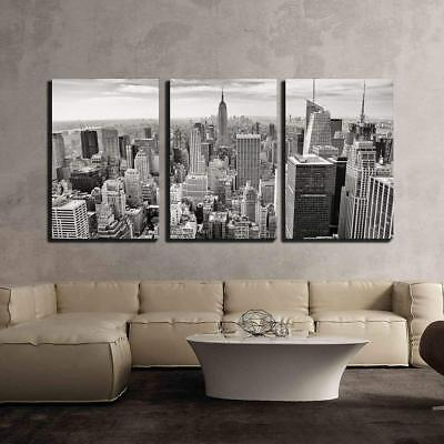 "Wall26 - Aerial View of Manhattan New York City Usa - CVS - 24""x36""x3 Panels"