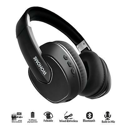 Active Noise Cancelling Headphones Bluetooth Wireless Over-ear Stereo Headphone