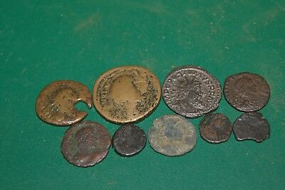 Group of Ancient Roman Coins Metal Detecting Finds