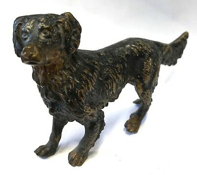 Antique Austrian Cold Painted Bronze Dog In The Style Of Bergman