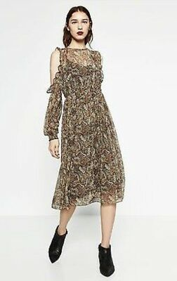 ZARA XS printed midi Dress sold out in stores