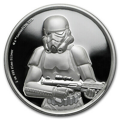 2018 Niue 2 oz Silver $5 Star Wars Stormtrooper Ultra High Relief - SKU#172199