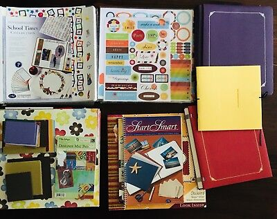 Scrapbooking LOT Creative Memories School Times Pages Discontinued +5 ALBUMS