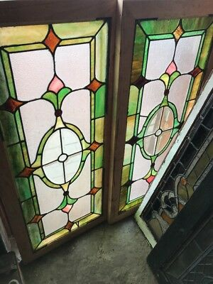 SG 2426 2AV price each antique stained and beveled glass transom windows 20.2…