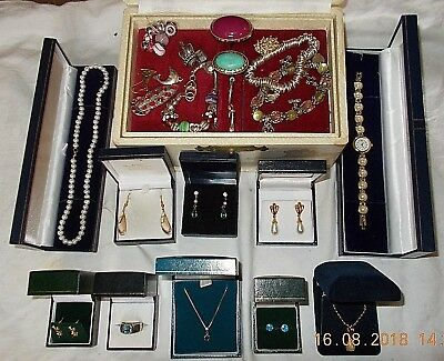 Job Lot of Vintage & Modern Jewellery Including 925 Sterling Silver & Sapphire