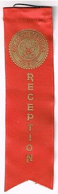 "BSA Very Old Red ""RECEPTION"" Ribbon Boy Scouts of America"