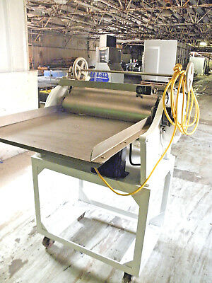 "Fm Stewart 24"" Adjustable Sheeter Bakery Crust Pizza Dough Roller Bread Molder"