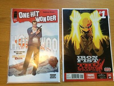 One Hit Wonder  #1 and Iron Fist #1 Marvel and Image titles