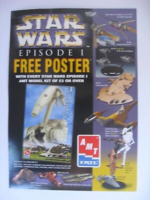 STAR WARS Promotional small Poster/shop display AMT ERTL plastic kits UK only.