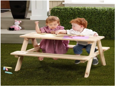 Natural Pinewood Picnic Table Outdoor Patio Garden Bench Childrens Furniture kid