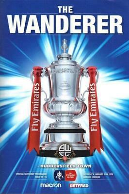 * 2017/18 - BOLTON WANDERERS v HUDDERSFIELD TOWN (FA CUP 6th January 2018) *