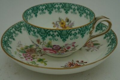Porcelaine Anglaise Copeland Tasse A Cafe The Decor Peint Main