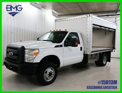F350 4Wd 1 Owner 12 Ft Box Truck Windshield Side Entry 29 Service Records White