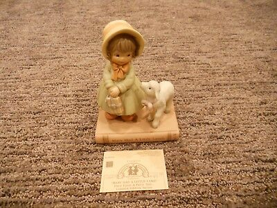 Vintage 1992 Enesco Memories of Yesterday Mary Had a LIttle Lamb