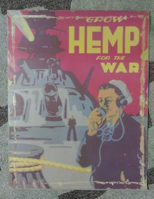 Vintage Grow Hemp for the War Poster - US government reproduction