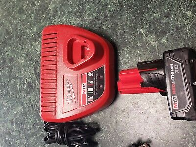 Milwaukee M12 12-Volt Red Lithium-Ion XC High Capacity Battery & charger