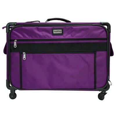 Tutto 2XL Rolling Sewing Machine and Matching Embroidery Unit Travel Case-Purple