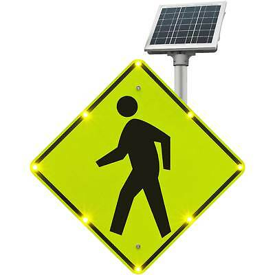 "Tapco BlinkerSign Flashing LED Pedestrian Crossing Sign W11-2, 30""W, Solar, Lot"
