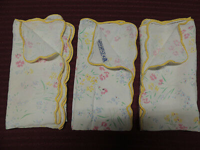 D. Porthault, Vintage, Three Napkins, One With Label, Made In France, 100% Flax