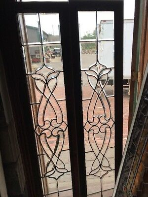 SG 2429  2 Av.price each antique all beveled glass  windows 15 X 68.25