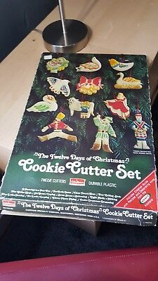 Twelve Days of Christmas Cookie Cutter Set of 12 Chilton Vintage 1978
