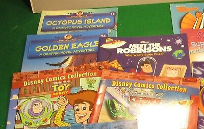 10 Lot books,Disney Comic Collection Toy Story,Cars,Nemo,Scooby Doo,Golden Eagle