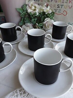*LOVELY*Vintage China SUSIE COOPER  Black & White Coffee Set
