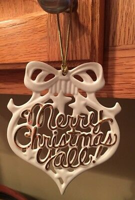 Lenox Merry Christmas Y'all Ornament