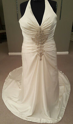 Casablanca Bridals 2060 Wedding Dress/Bridal Gown (Ivory/Silver, 20)