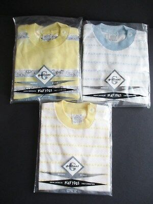 3X Vintage Gallant Play Togs Toddler Pullover Shirts  New Old Stock Size 2
