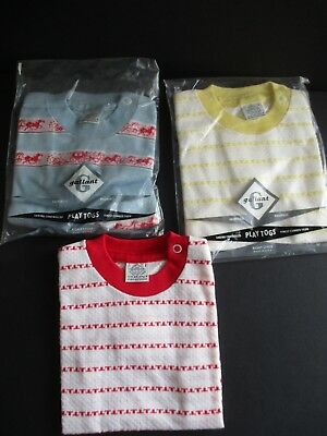 3X Vintage Gallant Play Togs Infant Pullover Shirts  New Old Stock Size 1