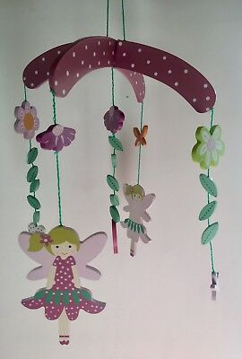 Gisela Graham baby wooden mobile with fairies - nursery decoration