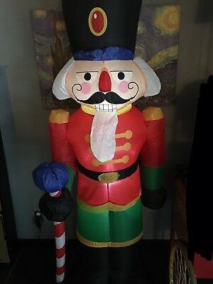 Gemmy 6.5ft tall Christmas Inflatable Nutcracker Toy Soldier Blowup Blow Up