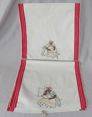 Set of 2 Vintage BLACK AMERICANA KITCHEN TOWELS MAMMY Must See!