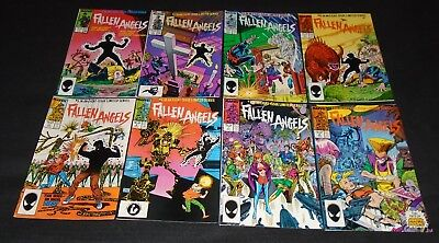 Fallen Angels #1,2,3,4,5,6,7 & 8 Complete Run. Marvel Comics (1987) New Mutants