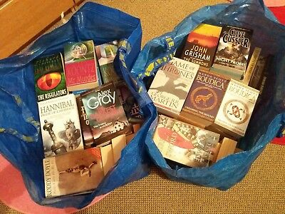Job Lot Of Paperback Novels approximately 90 titles. Used and new!