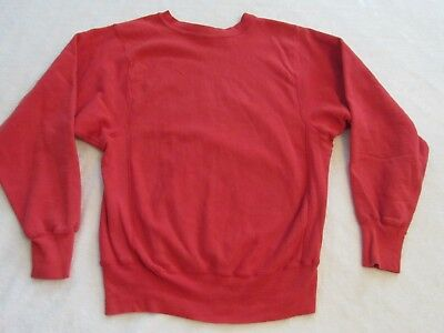 Vintage LANDS END Reverse Weave by CHAMPION Red Small Sweatshirt